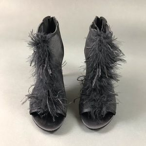 Kenneth Cole Reaction Feather Peep Toe Booties